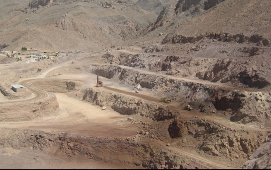 Image of the Mehdiabad zinc mine courtesy of IMIDRO