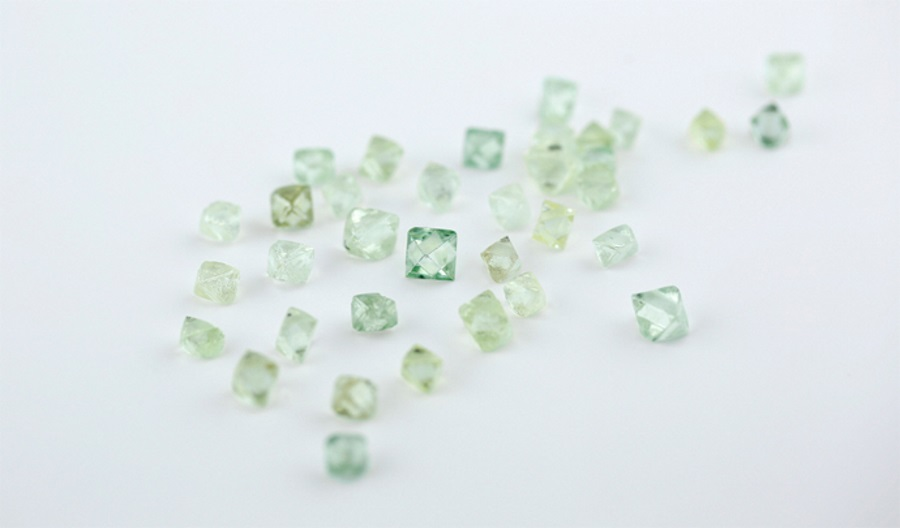 Rough diamonds from the Grib mine in Russia. Source: Grib Diamonds
