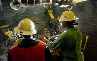 Drilling at Kamoto UG copper mine, DRC. Image: Katanga Mining