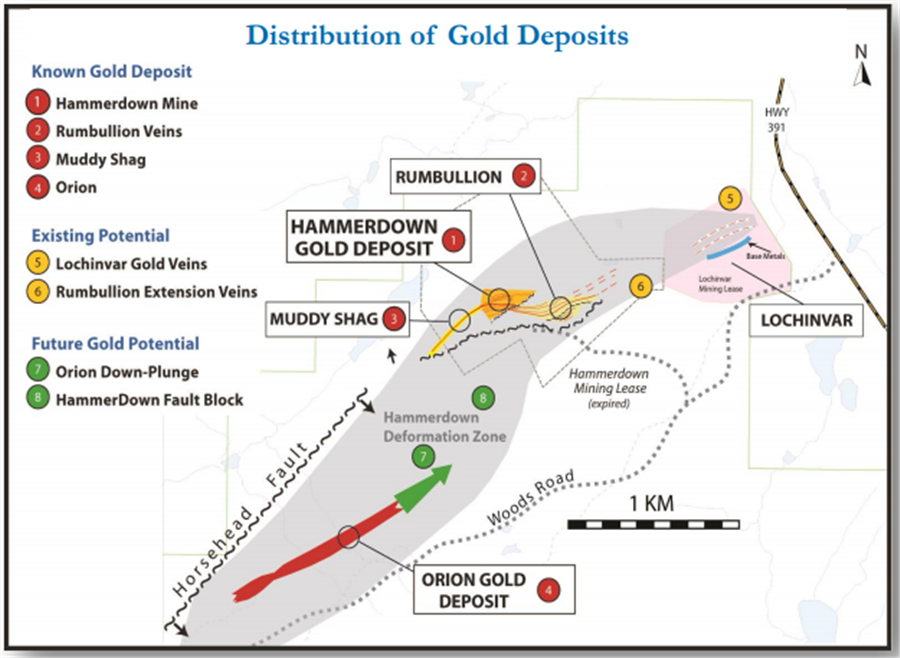 Newfoundlands champion moves towards gold production - Distribution of Gold Deposits
