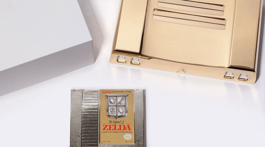 This Nintendo is made of 24K gold and it's being auctioned right now