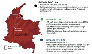 Red Eagle exploration expands - Colombia map