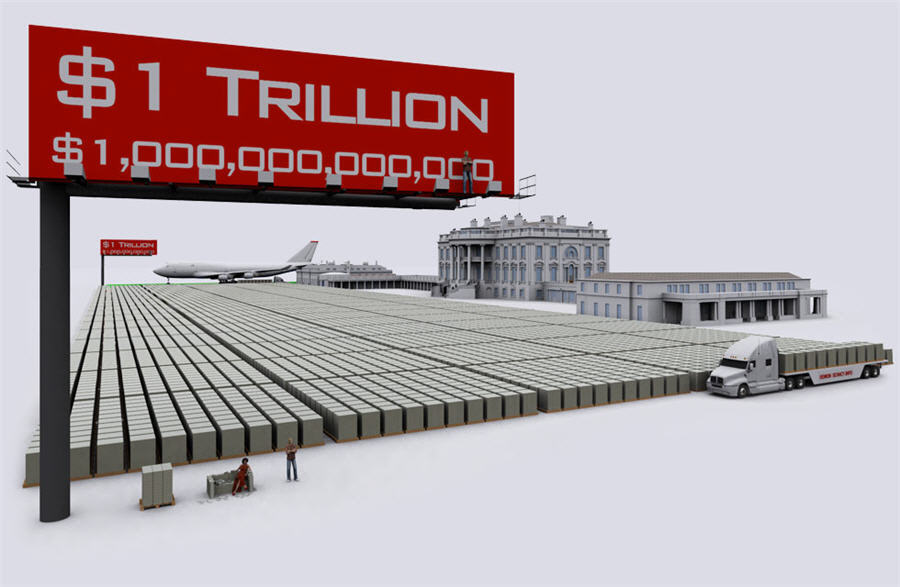 Infographic - One Trillion from a front angle