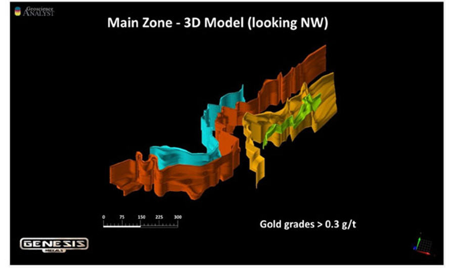 Quebec explorer raises 4M, welcomes Eric Sprott Main zone - 3D Model