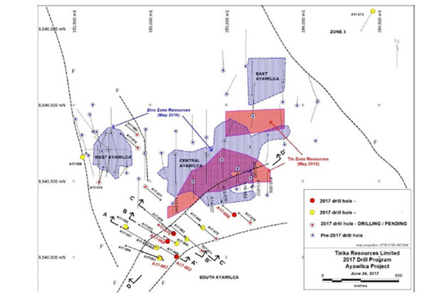 Explorer's Peruvian zinc asset gets a critical look - 2017 drill program map