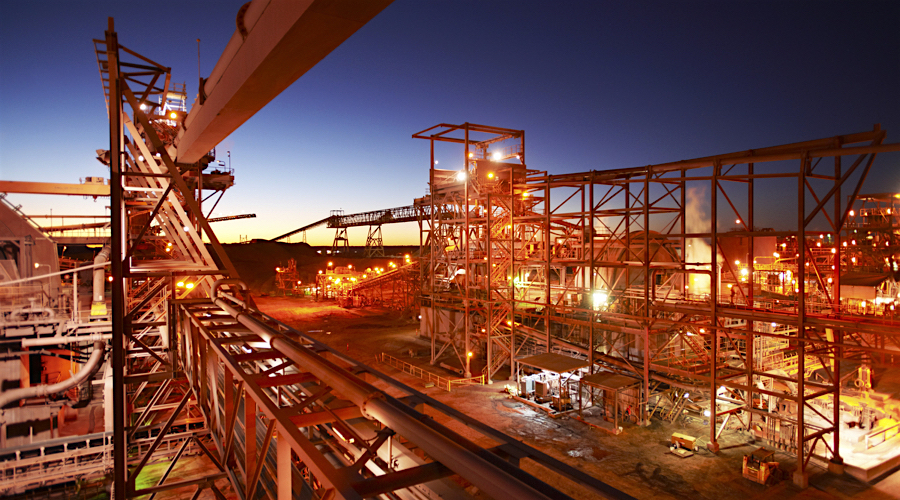 BHP's Olympic Dam copper, gold, uranium mine is located in South Australia. (Image courtesy of BHP.)