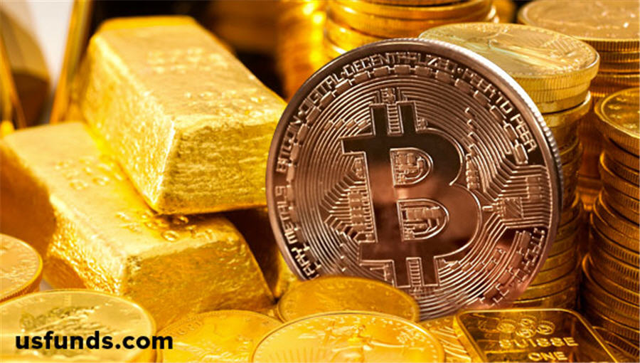 Cryptocurrency with 10 gold 10 oil
