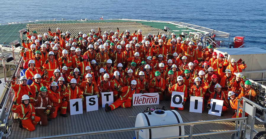 Hebron project off Newfoundland coast kicks off oil production