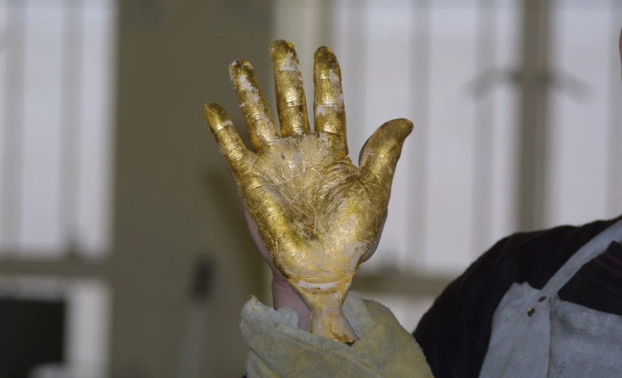 World's only gold cast of Nelson Mandela's hand could fetch up to $13 million