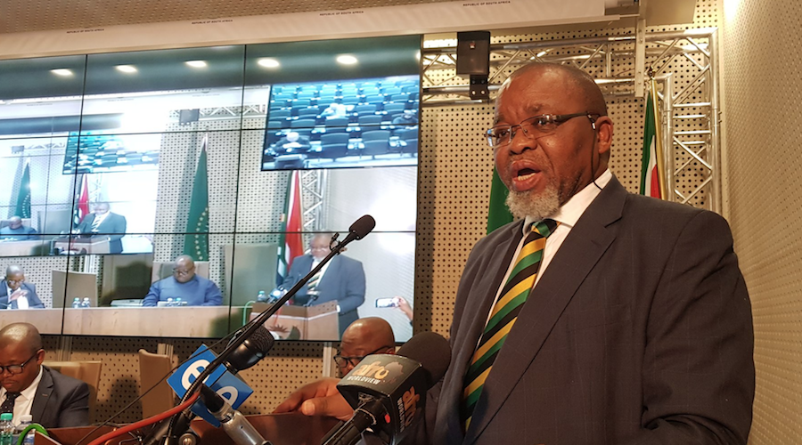 South Africa's mines minister hospitalized with covid-19