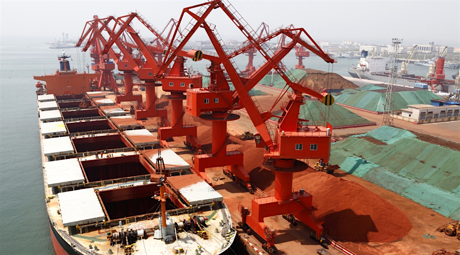 Iron price jumps as China imports hit 15-month high