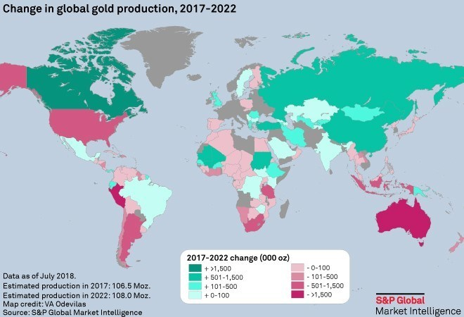 Gold output in key countries to slump to 'generational' lows — report