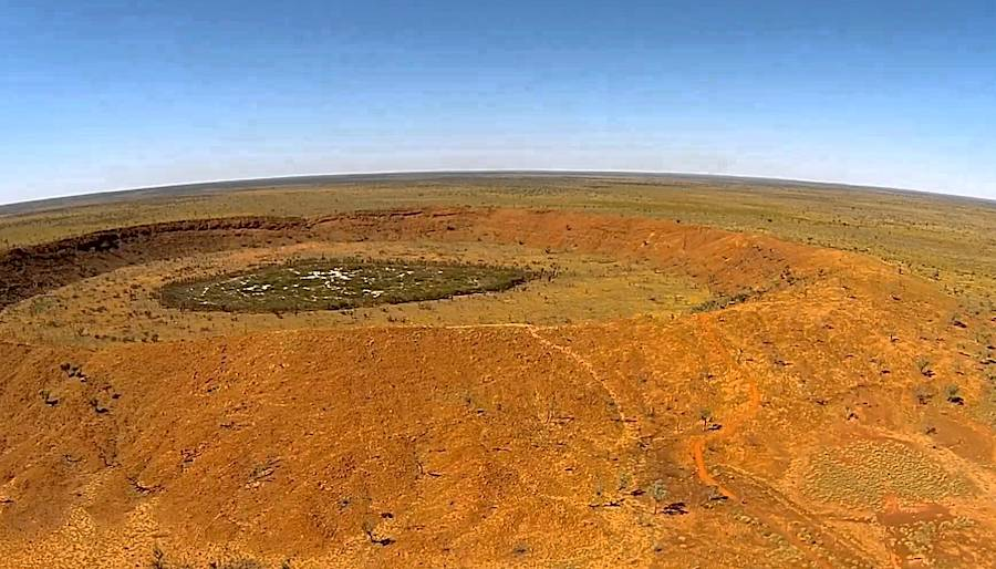 Australians find extremely rare mineral in meteorite impact crater