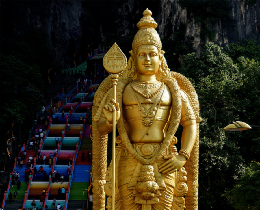 Adobe Stock Images - https://stock.adobe.com/ca/images/golden-statue-of-lord-murugan-and-colorful-stairs-of-batu-caves-malaysia/228963070