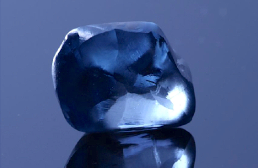Botswana unveils rare 20-carat blue diamond, the country's largest ever