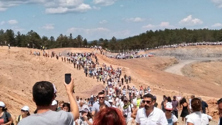 Alamos Gold say 'political agenda' behind massive protest against its Turkish project