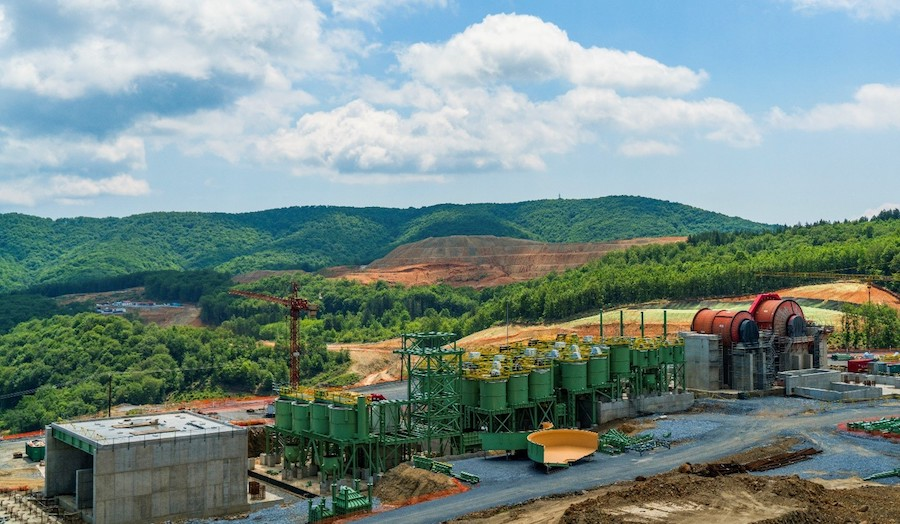 Construction of processing plant at Skouries. (Image courtesy of Eldorado Gold)