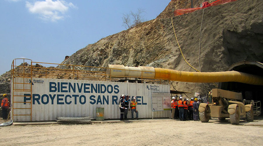 Mexican mineworkers march against Americas Gold and Silver Corp.