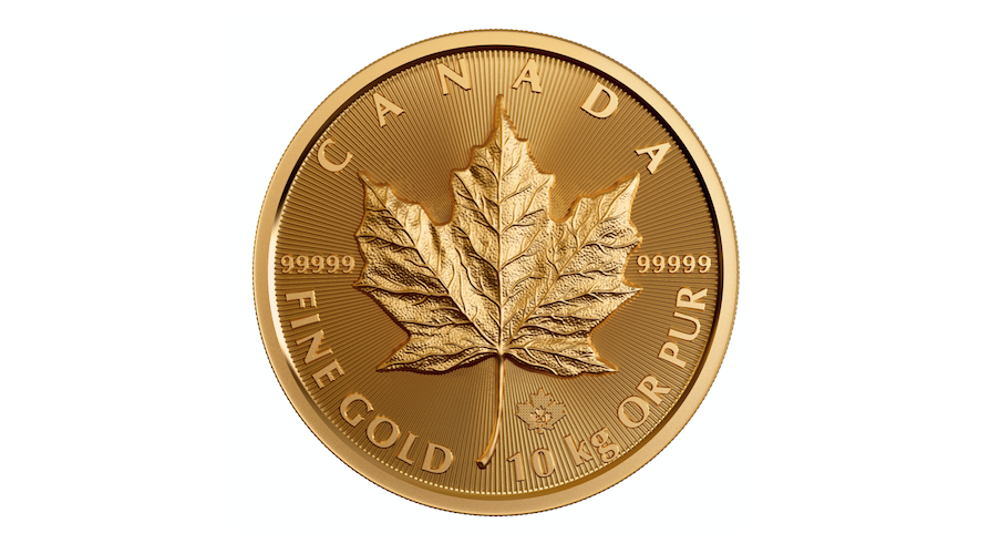 Mint produces largest-ever gold maple leaf coin