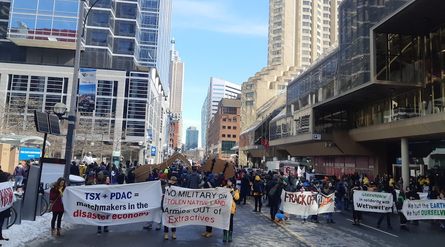 Anti-mining protesters block entrances to PDAC annual convention