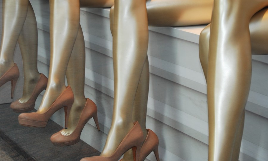 Gold-coated pantyhose shows that light-emitting apparel may be feasible