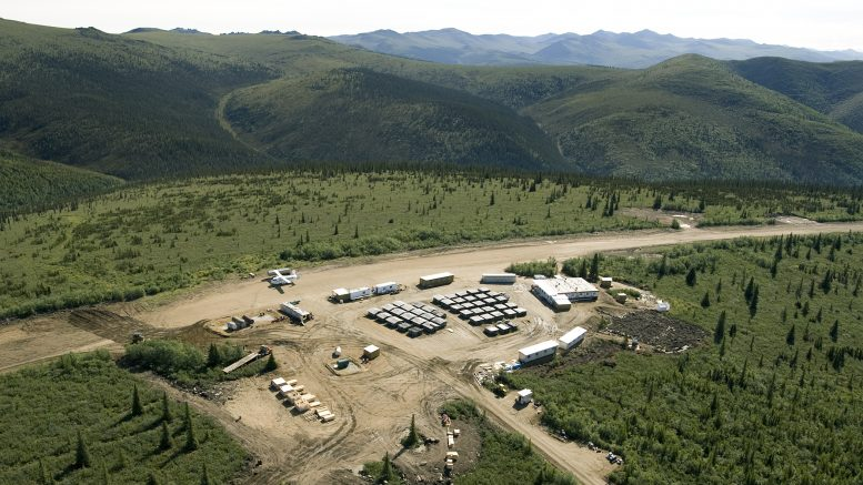 Western Copper and Gold's camp at the Casino project in the Yukon Territory. Credit: Western Copper and Gold.