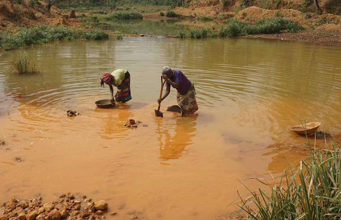 Artisanal miners in Africa