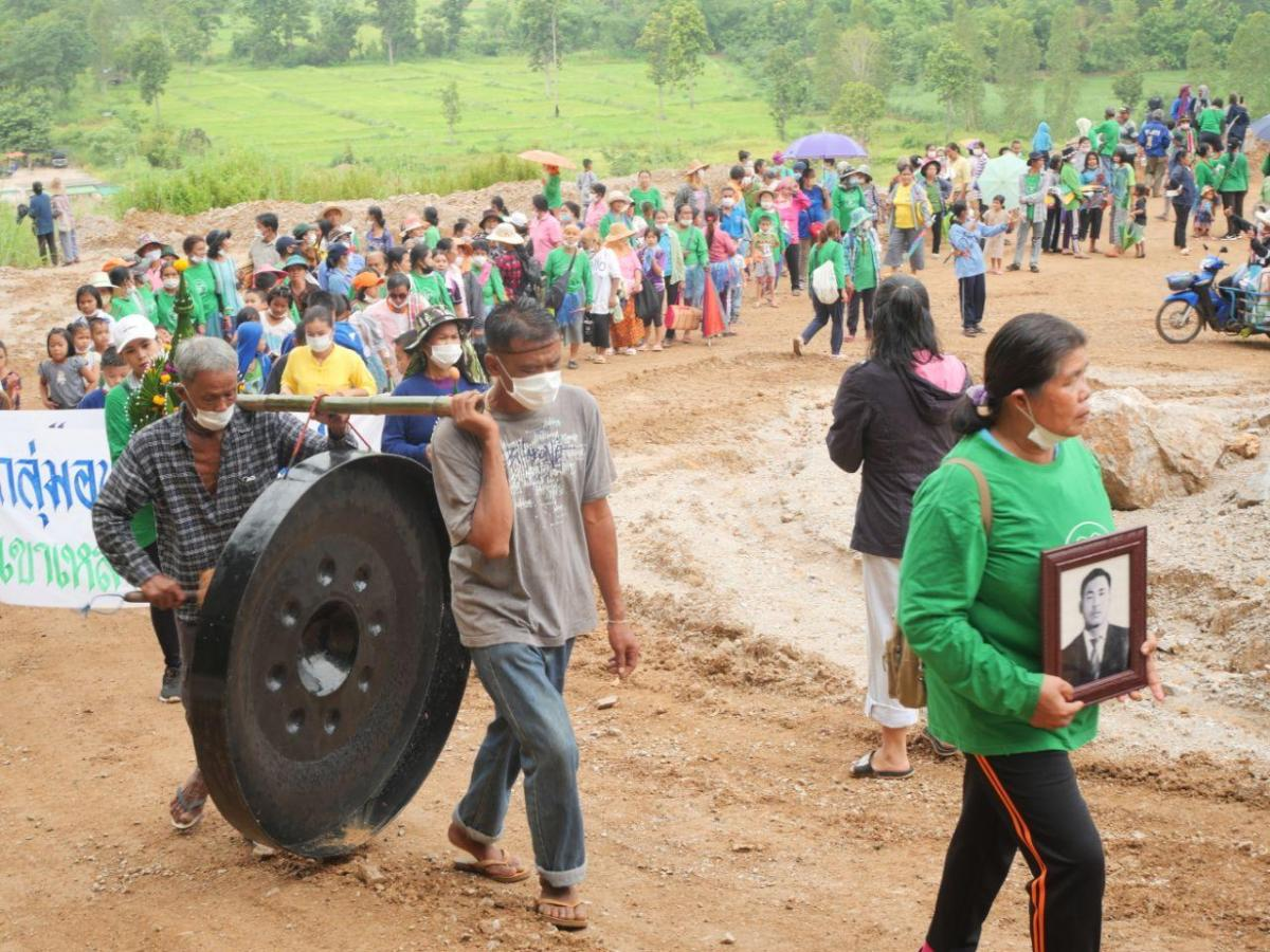 Thai villagers 'reclaim' land after 26-year fight over mine