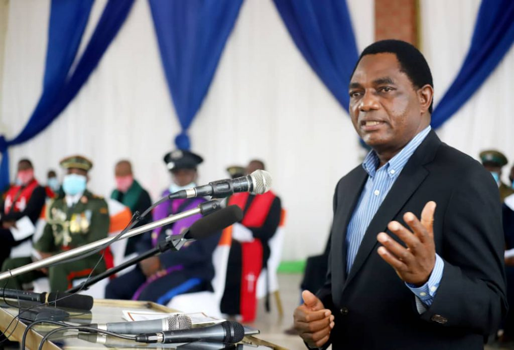Zambian president promises to cut deficit, review mining policies
