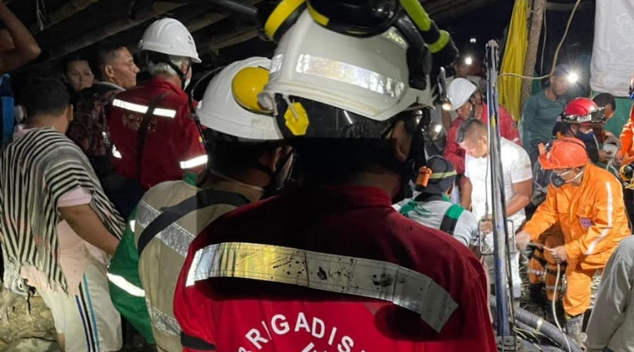 Eleven miners trapped inside flooded gold mine in Colombia
