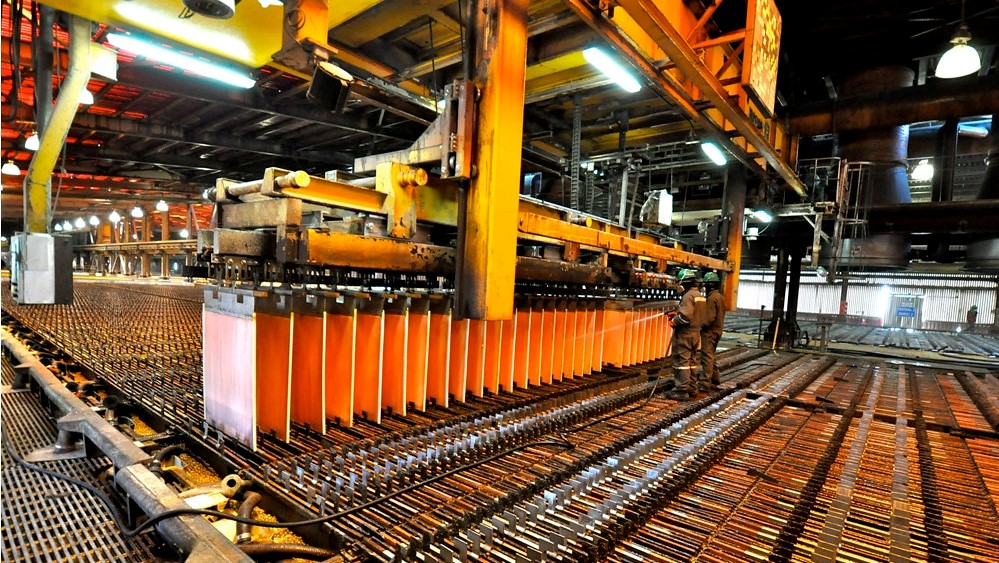 Copper price down on weak China demand, stronger dollar