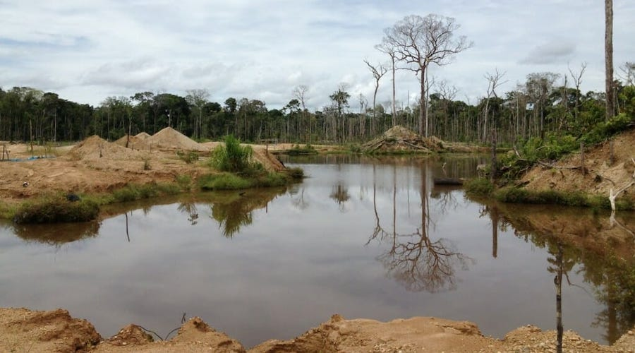 Formalization of small-scale mining detrimental for the environment - study