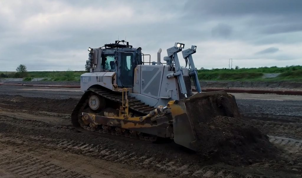 Nutrien first to use remote control Cat dozer