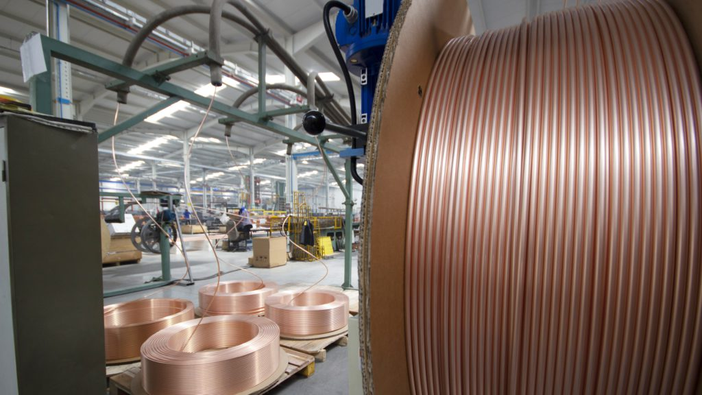 Copper price down on softer growth in US and China