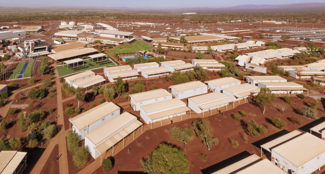 Iron ore miners lure workers to Outback with resort-style living